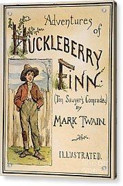 Clemens: Huck Finn, 1885 Acrylic Print