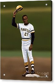 Clemente's 3000th Hit Acrylic Print by Jeremy Nash
