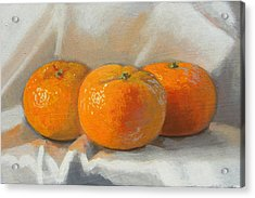 Clementines Acrylic Print by Peter Orrock