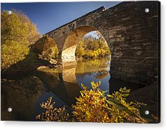 Clements Stone Arch Bridge Acrylic Print by Scott Bean