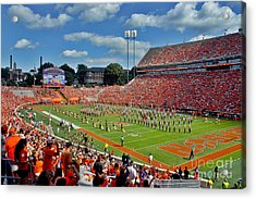 Clemson Tiger Band Memorial Stadium Acrylic Print by Jeff McJunkin