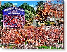 Clemson Tigers Memorial Stadium II Acrylic Print by Jeff McJunkin