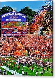 Clemson Tigers Memorial Stadium Acrylic Print by Jeff McJunkin