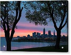 Cleveland At Dawn Acrylic Print