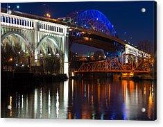 Cleveland Bridge Reflections Acrylic Print