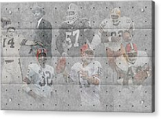 Cleveland Browns Legends Acrylic Print by Joe Hamilton