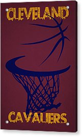Cleveland Cavaliers Hoop Acrylic Print