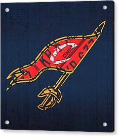 Cleveland Cavaliers Nba Team Retro Logo Vintage Recycled License Plate Art Acrylic Print