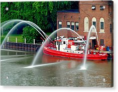 Cleveland Firehouse Acrylic Print by Frozen in Time Fine Art Photography