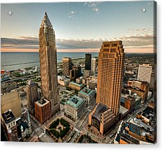 Cleveland From A Birds Eye View Acrylic Print