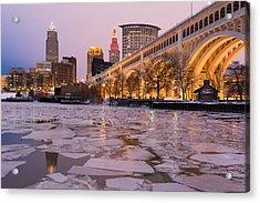 Cleveland Ice Chips Skyline Acrylic Print