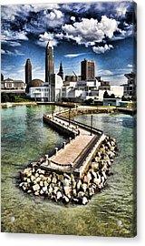 Cleveland Inner Harbor - Cleveland Ohio - 1 Acrylic Print