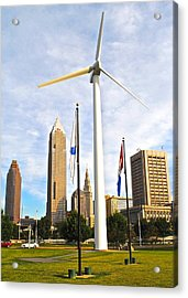 Cleveland Ohio Science Center Acrylic Print by Frozen in Time Fine Art Photography