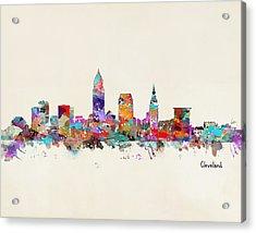 Cleveland Ohio Skyline Acrylic Print by Bri B