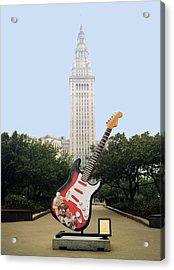 Cleveland Rocks Acrylic Print by Terri Harper