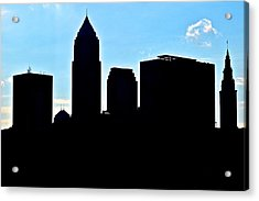Cleveland Silhouetted Acrylic Print