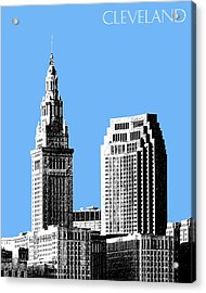 Cleveland Skyline 1 - Light Blue Acrylic Print by DB Artist