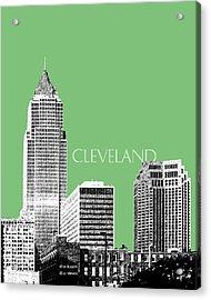 Cleveland Skyline 2 - Apple Acrylic Print