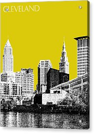 Cleveland Skyline 3 - Mustard Acrylic Print by DB Artist