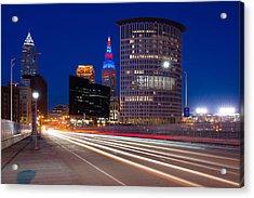Cleveland Skyline Masterpiece Acrylic Print