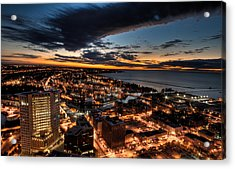 Acrylic Print featuring the photograph Cleveland Sunset by Brent Durken