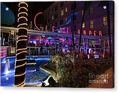 Clevelander South Beach Acrylic Print by Anthony Festa