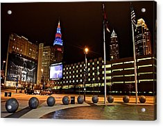 Clevelands Big Three From The Q Acrylic Print