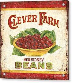 Clever Farms Beans Acrylic Print by Debbie DeWitt