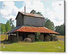Clewis Family Tobacco Barn Acrylic Print by Suzanne Gaff