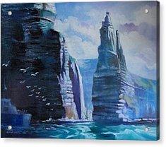 Clffs  Of Mohar Ireland Acrylic Print