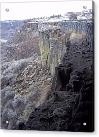 Cliff Acrylic Print by Angela Stout