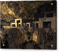 Cliff Dwellers Acrylic Print