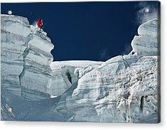 Cliff Jumping Acrylic Print