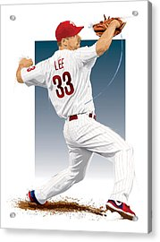 Cliff Lee Acrylic Print by Scott Weigner