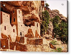 Cliff Palace Tower And Mesa Verde - National Park - Colorado Acrylic Print