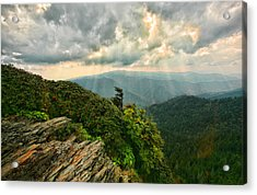 Cliff Tops At Mt. Leconte Gsmnp Acrylic Print