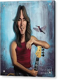 Cliff Williams Acrylic Print by Andre Koekemoer