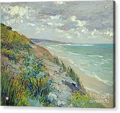 Cliffs By The Sea At Trouville  Acrylic Print