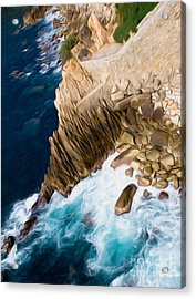 Cliffs In Acapulco Mexico Ill Acrylic Print
