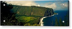Cliffs In The Sea, Waipio Valley, Big Acrylic Print by Panoramic Images