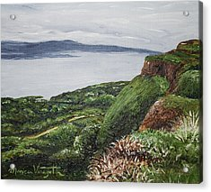 Cliffs Of Magho Acrylic Print by Monica Veraguth