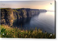 Cliffs Of Moher Distant Sunset Acrylic Print