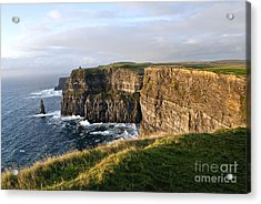 Cliffs Of Moher Evening Light Acrylic Print