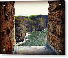 Cliffs Of Moher From O'brien's Tower Acrylic Print by Tara Potts
