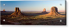 Cliffs On A Landscape, Monument Valley Acrylic Print by Panoramic Images