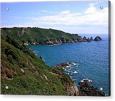 Cliffs On Isle Of Guernsey Acrylic Print