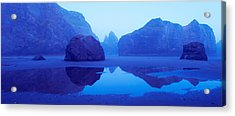 Cliffs On The Coast At Dawn, Meyers Acrylic Print by Panoramic Images