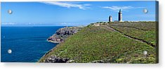 Cliffs With Two Lighthouses Acrylic Print by Panoramic Images