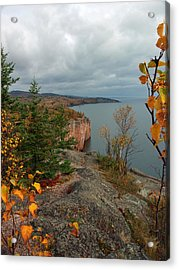 Cliffside Fall Splendor Acrylic Print