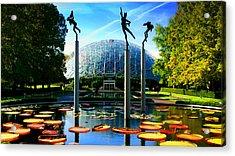 Climatron Geodesic Dome Landscape Acrylic Print